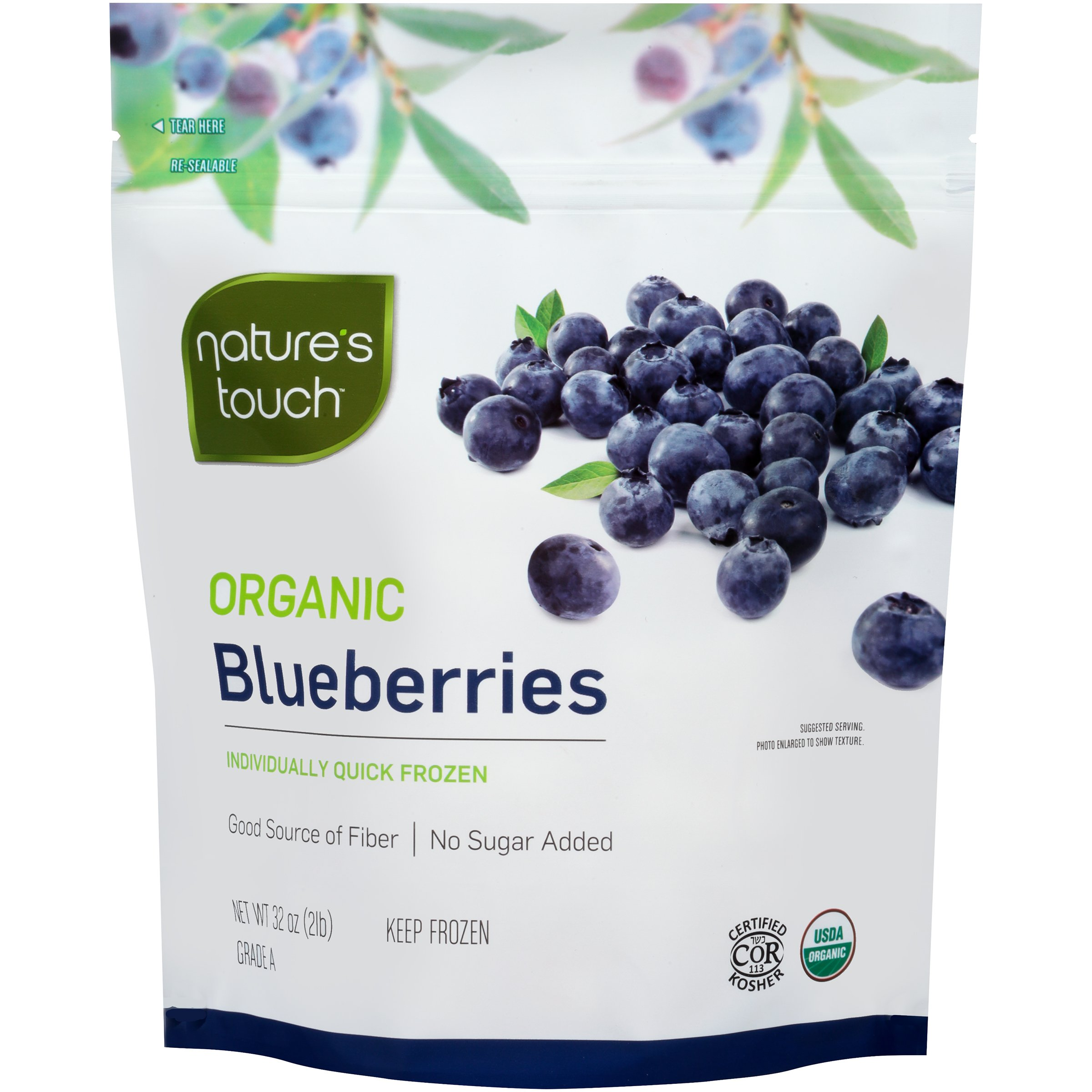 Nature's Touch Organic Fruits, Blueberries 32 oz. (6 Count) by Nature's Touch (Image #1)