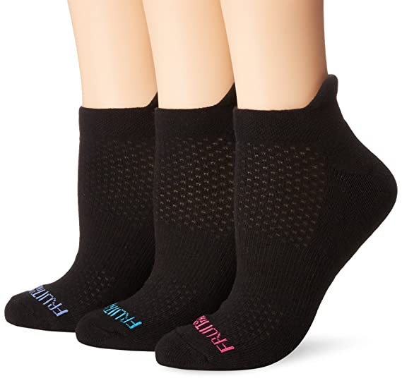 6e11718b4bd75 Fruit of the Loom Women's 3 Pack Breathable No Show Tab Sock at Amazon  Women's Clothing store: