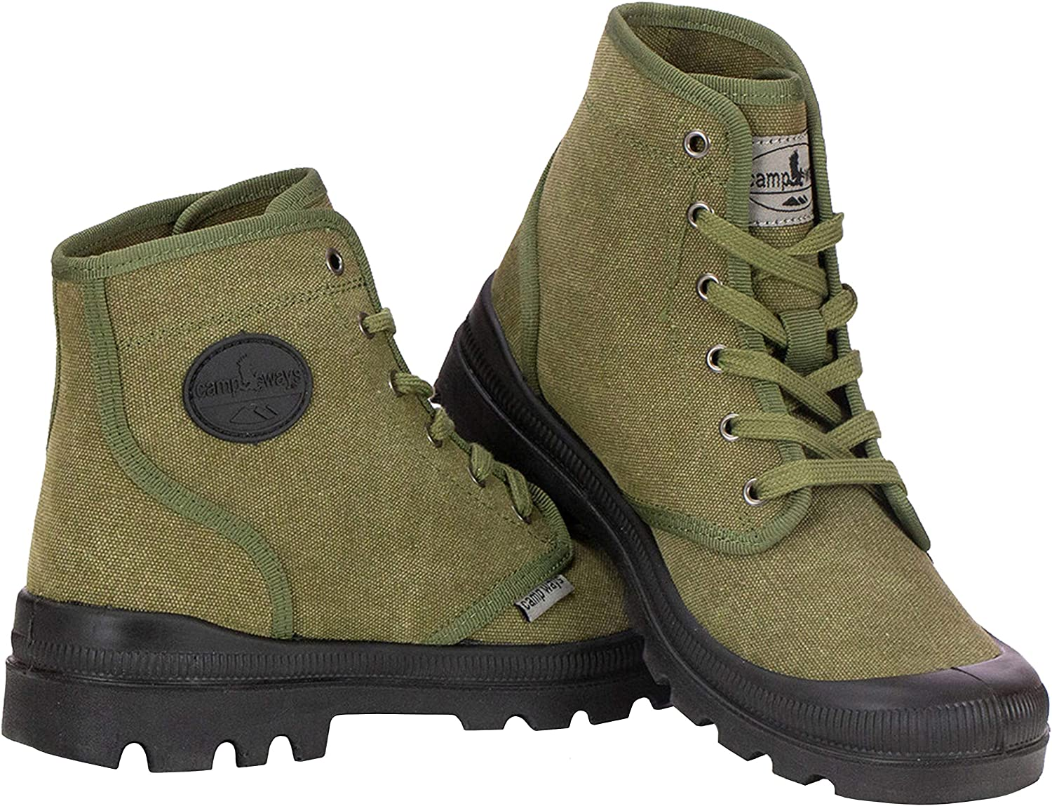 Rugged Outdoor Ranger Boot Farm Blue Mens Hiking Boots Waterproof High Top Canvas Trekking Ankle Shoes for Men with Cushioned Insole with Arch Support /& Rubber Sole
