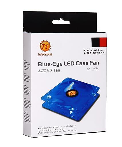 Amazon thermaltake blue eye silent smart 120mm blue led case thermaltake blue eye silent smart 120mm blue led case fan with adjustable fan speed control m4hsunfo