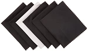 AmazonBasics Microfiber Cloths for Electronics (6 Pack) -Cleans Lenses, Glasses, Screens, Cameras, iPad, iPhone, Tablet, Cell Phone, LCD TV Screens and more