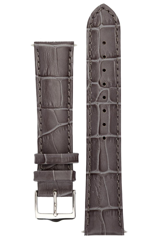 Signature Senator 腕時計バンド。腕時計替えブレスレット。本革。スチールバックル (鋼色, 22 mm) 22 mm|鋼色 鋼色 22 mm B0196IVEXI