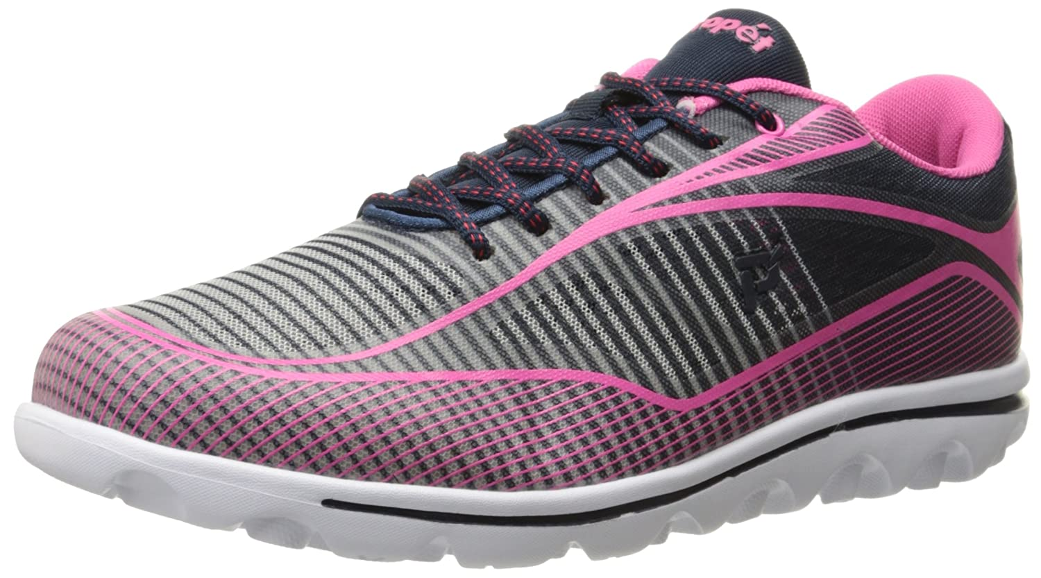 Propet Women's Billie Walking Shoe B0118BM2IW 9 2E US|Navy/Pink
