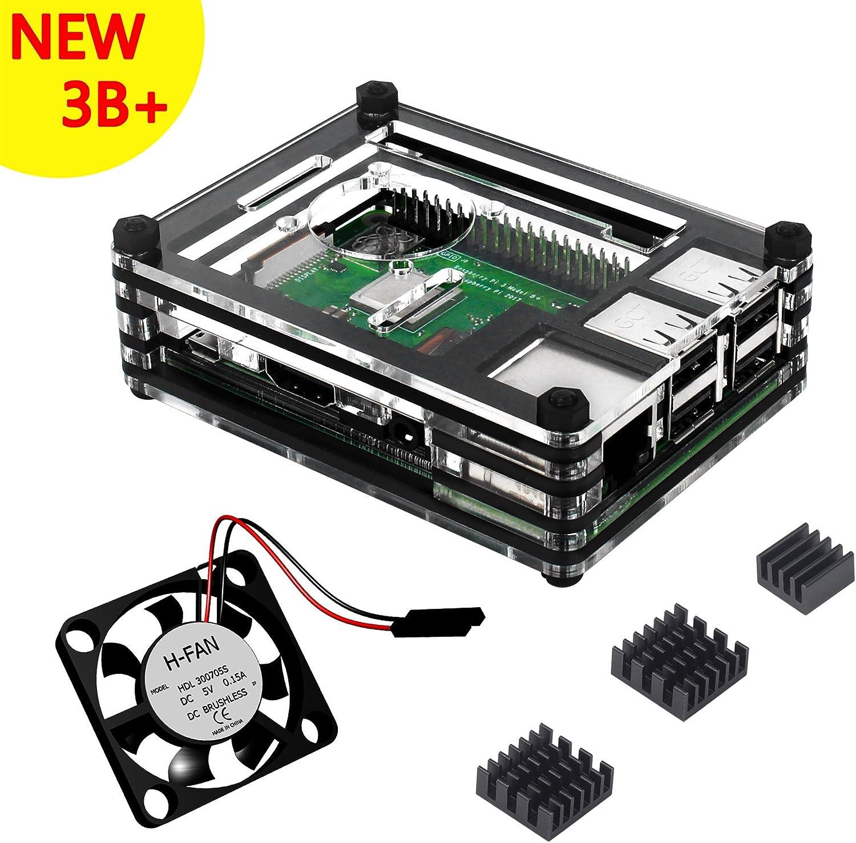 Caja para Raspberry Pi 3 Modelo B+ Plus Carcasa con Ventilador ...