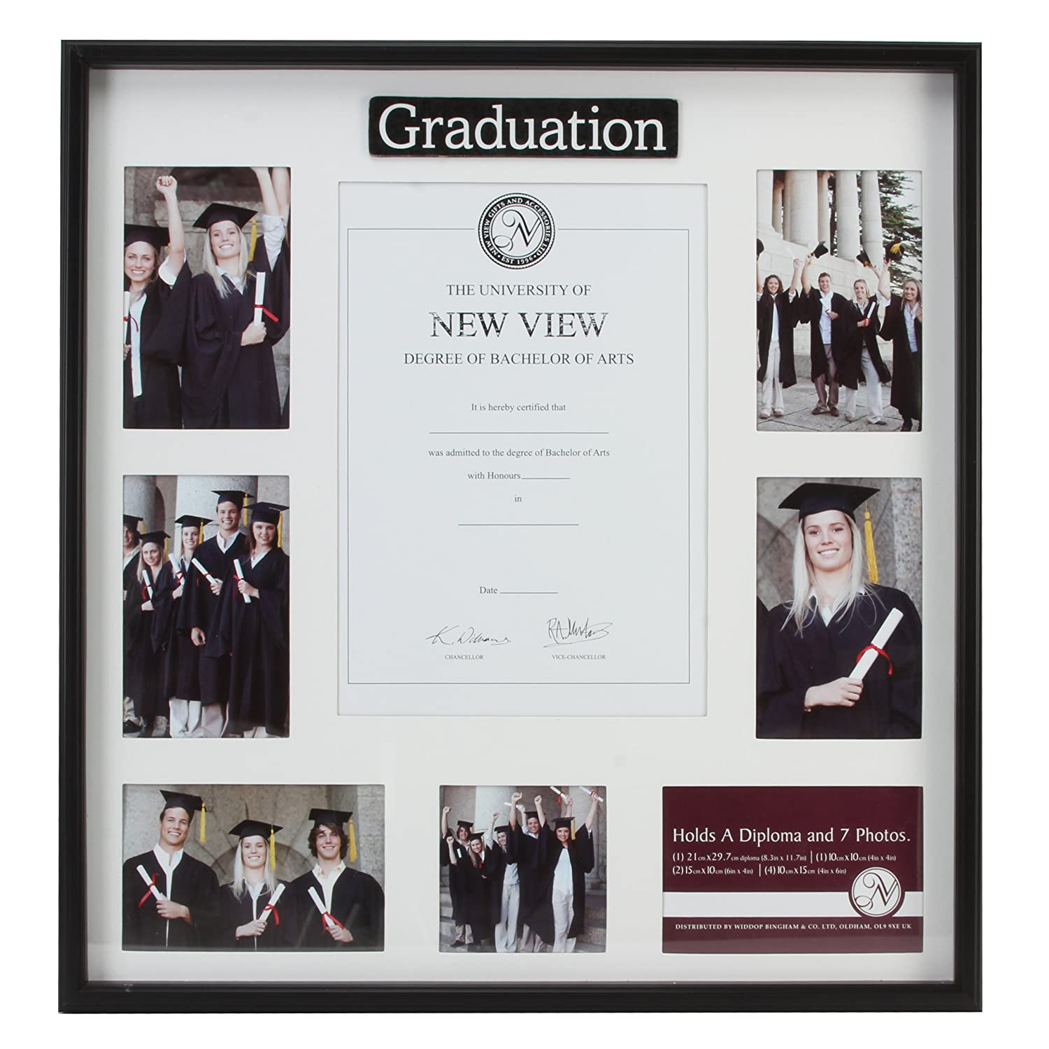 Graduation certificate collage photo frame with 7 picture frames ...