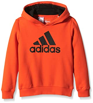 Sweat À Shirt GarçonBold Essentials Orange Logo Adidas Capuche kO80wPn