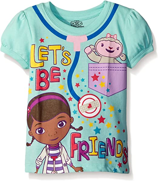 BRAND NEW RRP £10.99 DISNEY JUNIOR DOC MCSTUFFINS GIRLS SHORT SLEEVES T-SHIRT