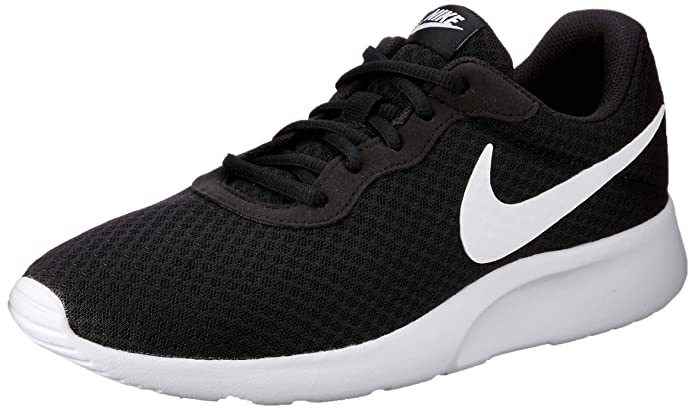 Nike Tanjun Herrenschuhe Schwarz mit weißem Streifen