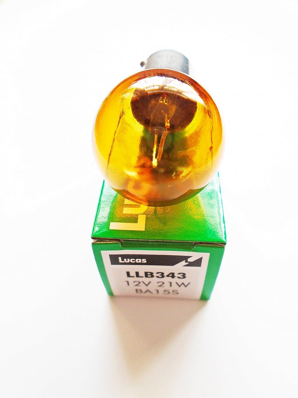 LLB343 Lucas-Elta 12V 21W BA15S SCC S25 AMBER OE QUALITY