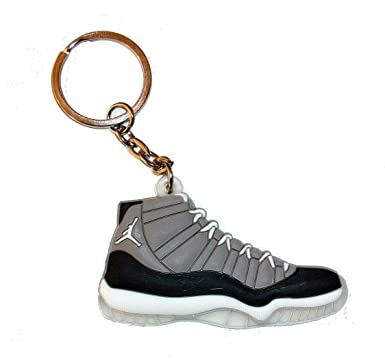 e017cbee6e7 Air Jordan 11 Keyring / Keychain - Cool Grey: Amazon.co.uk: Clothing