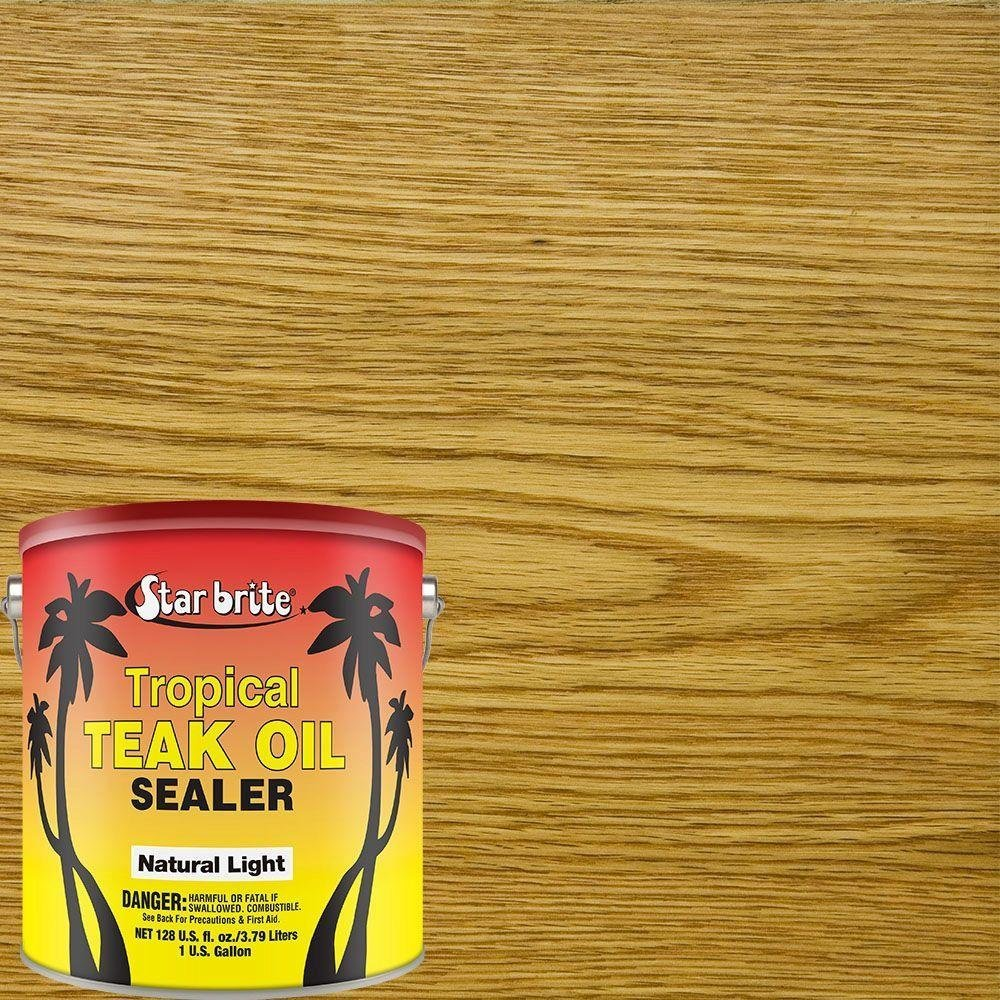 Star brite Teak Sealer - No Drip, Splatter-Free Formula - One Coat Coverage for All Fine Woods by Star Brite (Image #2)