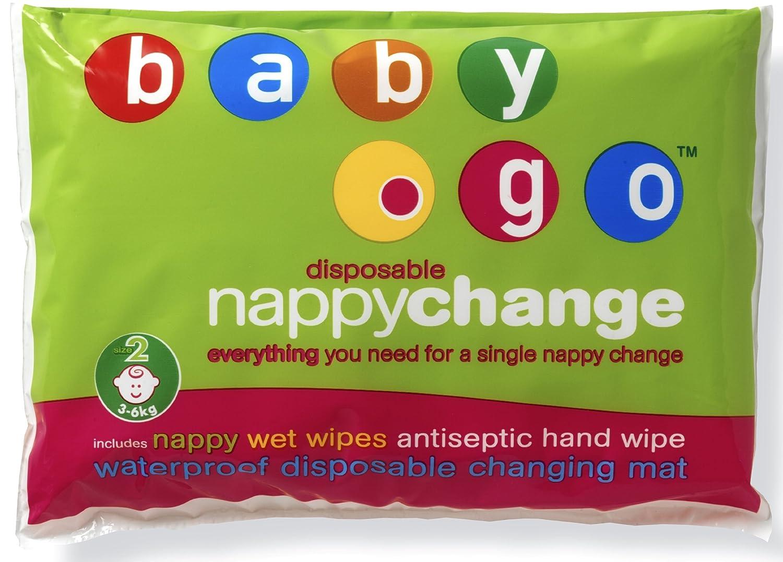Baby.go - Kit desechable para cambio de pañal (pañal, toallita, cambiador): Amazon.es: Salud y cuidado personal