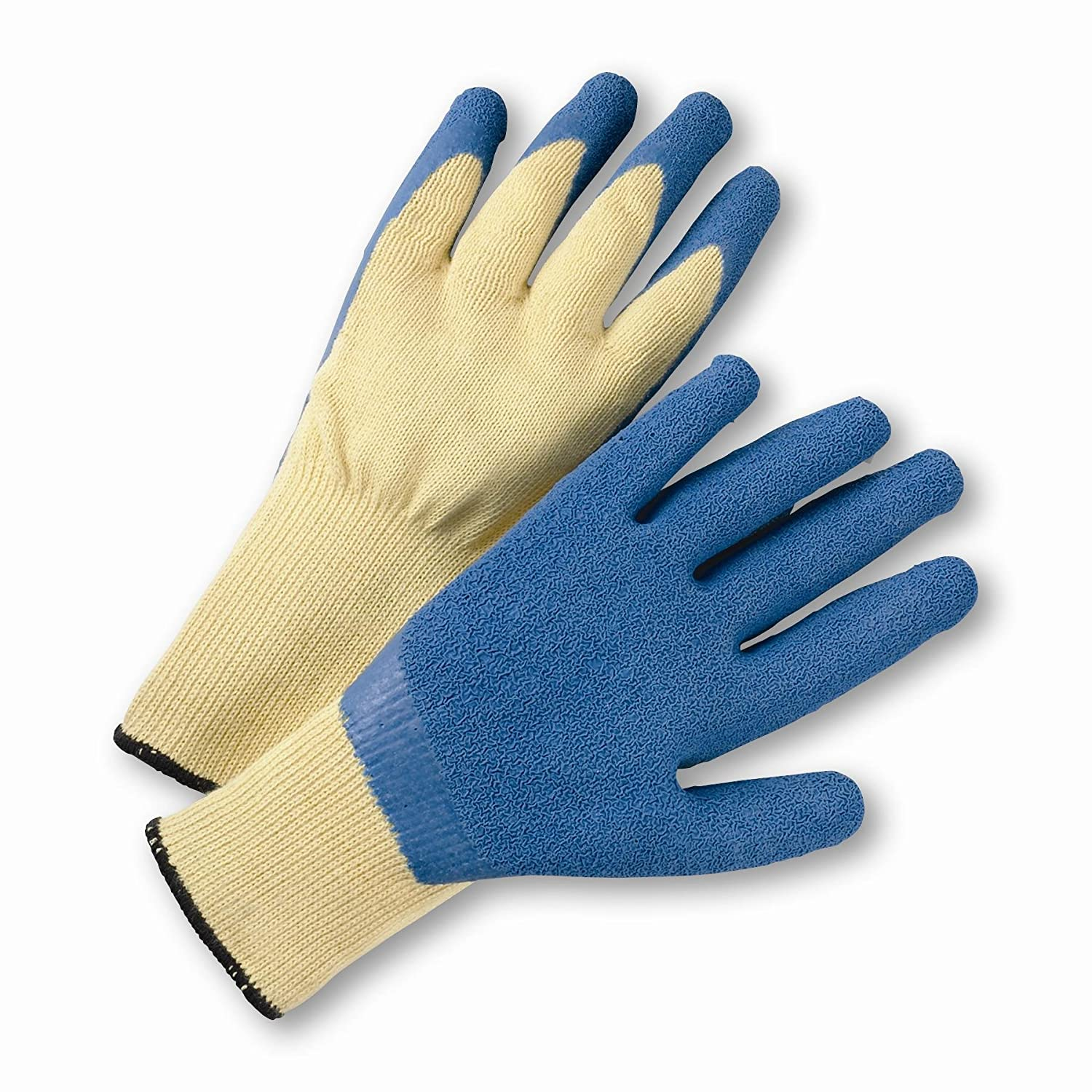 XL West Chester 700KSLC//XL Blue Crinkle Finish Latex Palm Coated Kevlar Gloves Blue Pack of 12