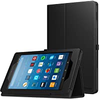 MoKo Case for All-New Amazon Fire HD 8 Tablet (7th and 8th Generation, 2017 and 2018 Release) - Slim Folding Stand Cover for Fire HD 8, Dual Color (with Auto Wake/Sleep)