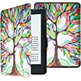 "Fintie Protective Case for Kindle 8th Generation - The Thinnest and Lightest SmartShell Cover with Auto Wake/Sleep for Amazon All-New Kindle (8th Generation - 2016 release) E-reader 6"" Glare Free Touchscreen Display, Love Tree"