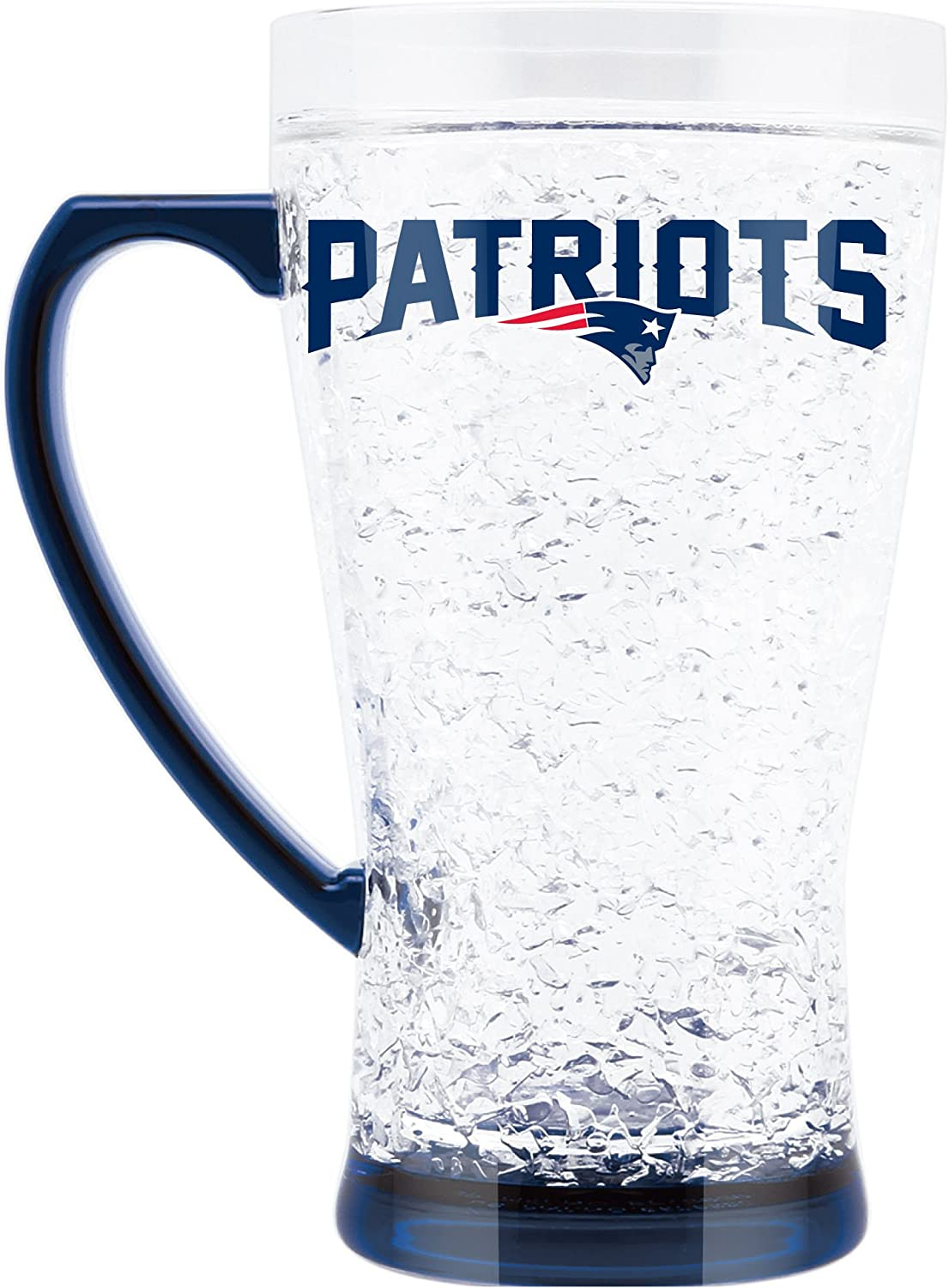 NFL New England Patriots 16oz Crystal Freezer Flared Mug