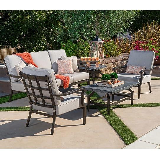 Veranda Classics Rustic 5 Piece Sofa Set. Patio Furniture Set