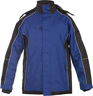 Hydrowear 072392P Urbar Skyline Parka, 100% Polyester, X-Small Size, Royal Blue/Black