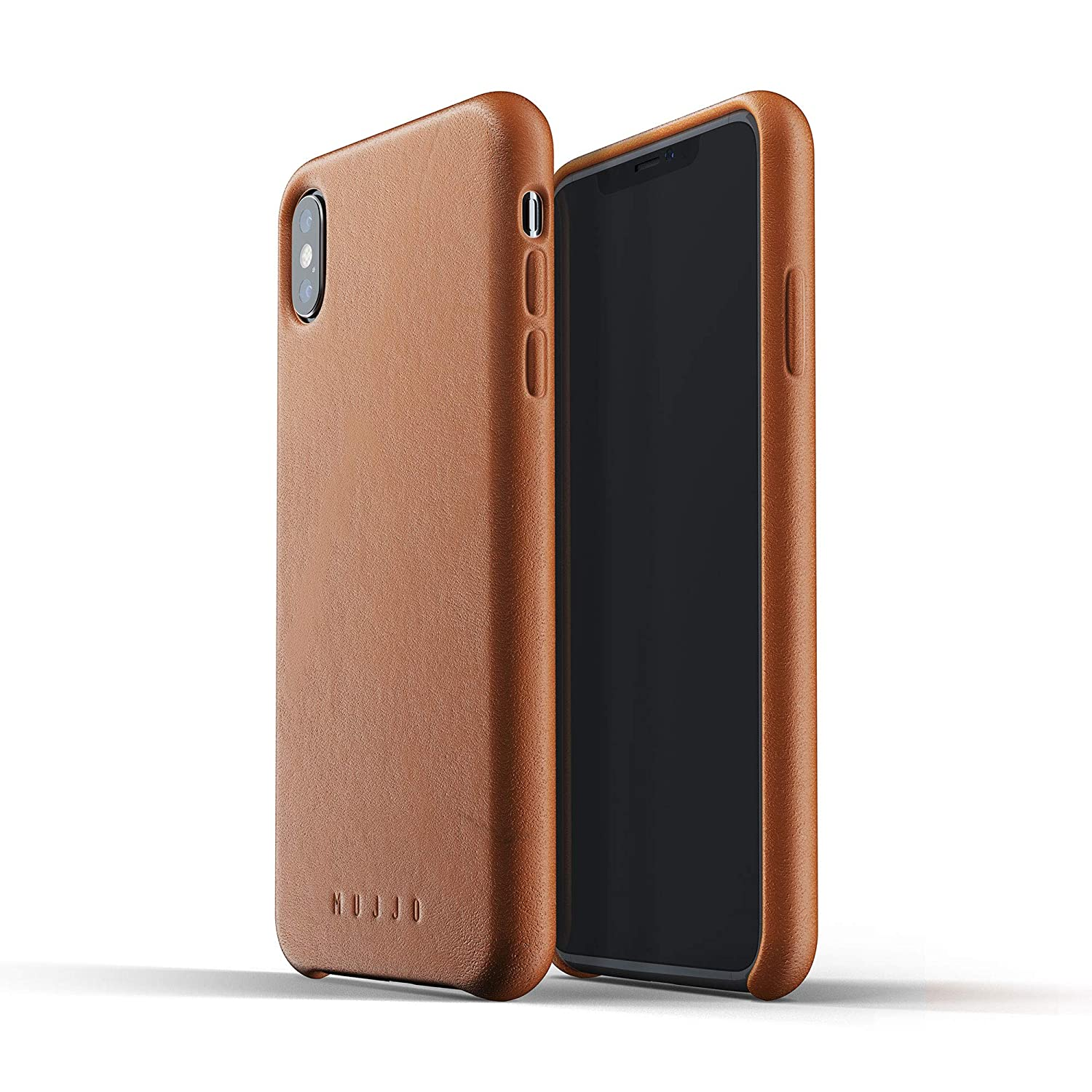 Funda para Iphone XS Max de cuero natural, marrón claro xmp