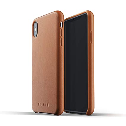 online store 617cf 0520f Mujjo Full Leather Case for iPhone Xs Max | Premium Genuine Leather,  Natural Aging Effect | Super Slim, Leather Wrapped, Wireless Charging (Tan)