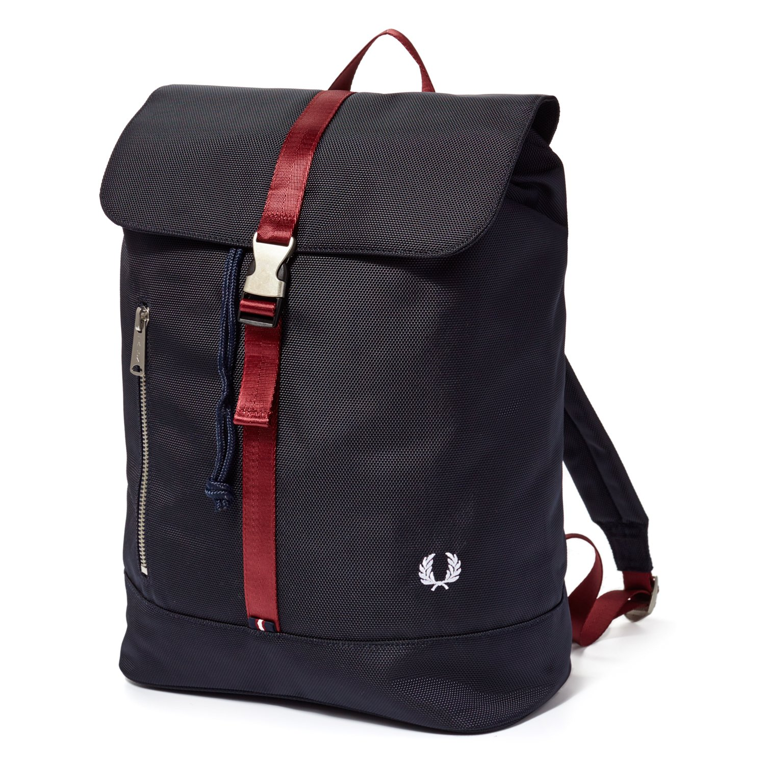 Fred Perry Navy Contrast Webbing Backpack
