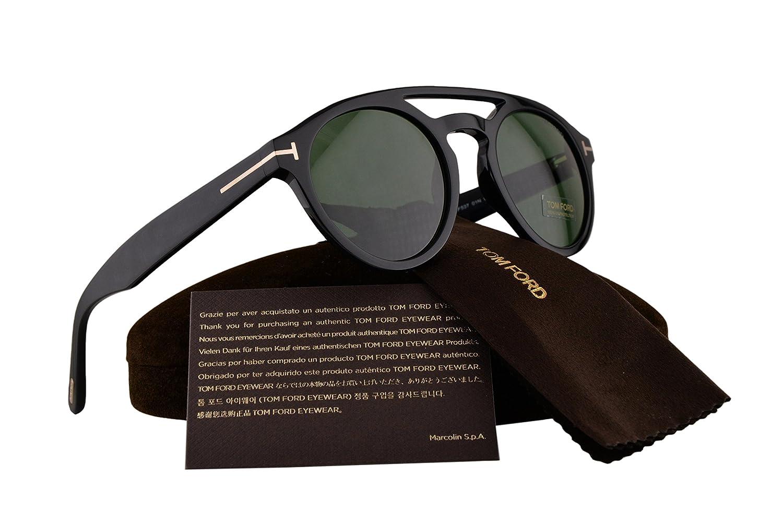 909e7b5770 Tom Ford FT0537 Clint Sunglasses Black w Green Lens 01N TF537   Amazon.co.uk  Clothing