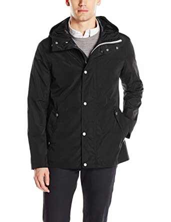 2aa491d3784 Cole Haan Signature Men's Hooded Rain Jacket at Amazon Men's ...