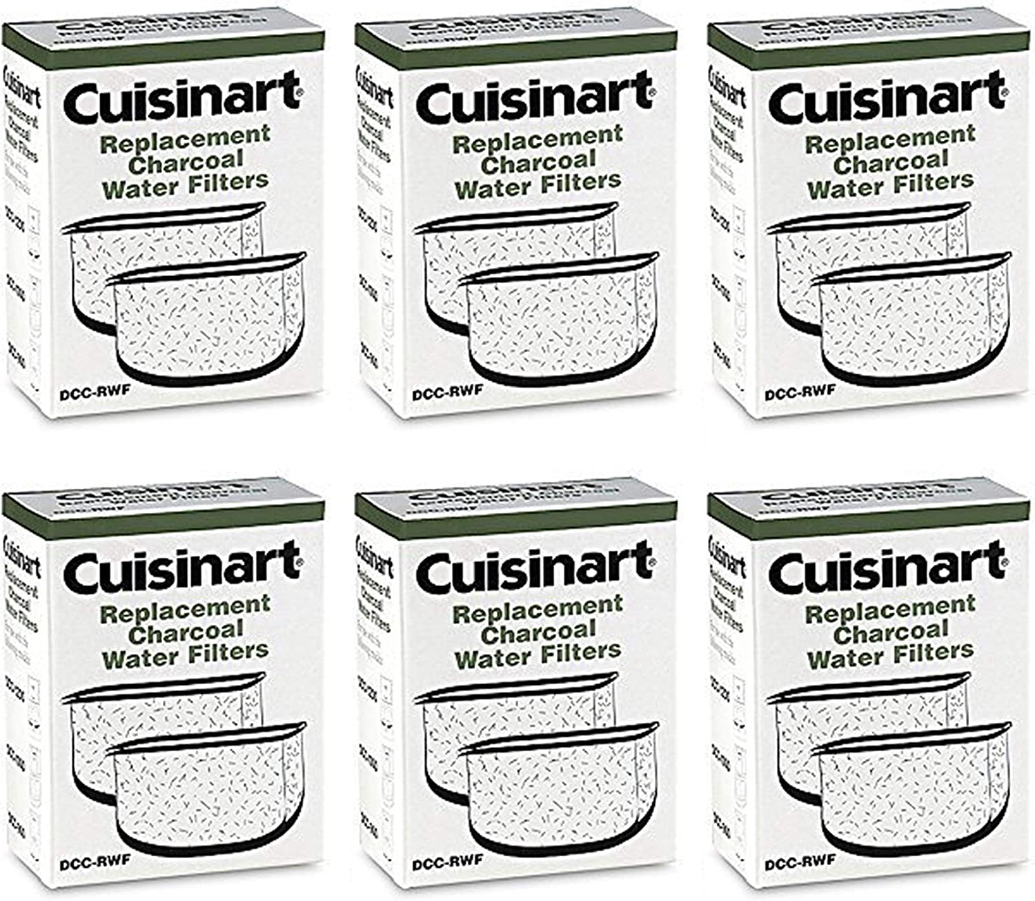 Cuisinart Dcc-Rwf-6Pk (12 Filters) Charcoal Water Filters bei Cuisinart Dcc-Rwf Retail Box