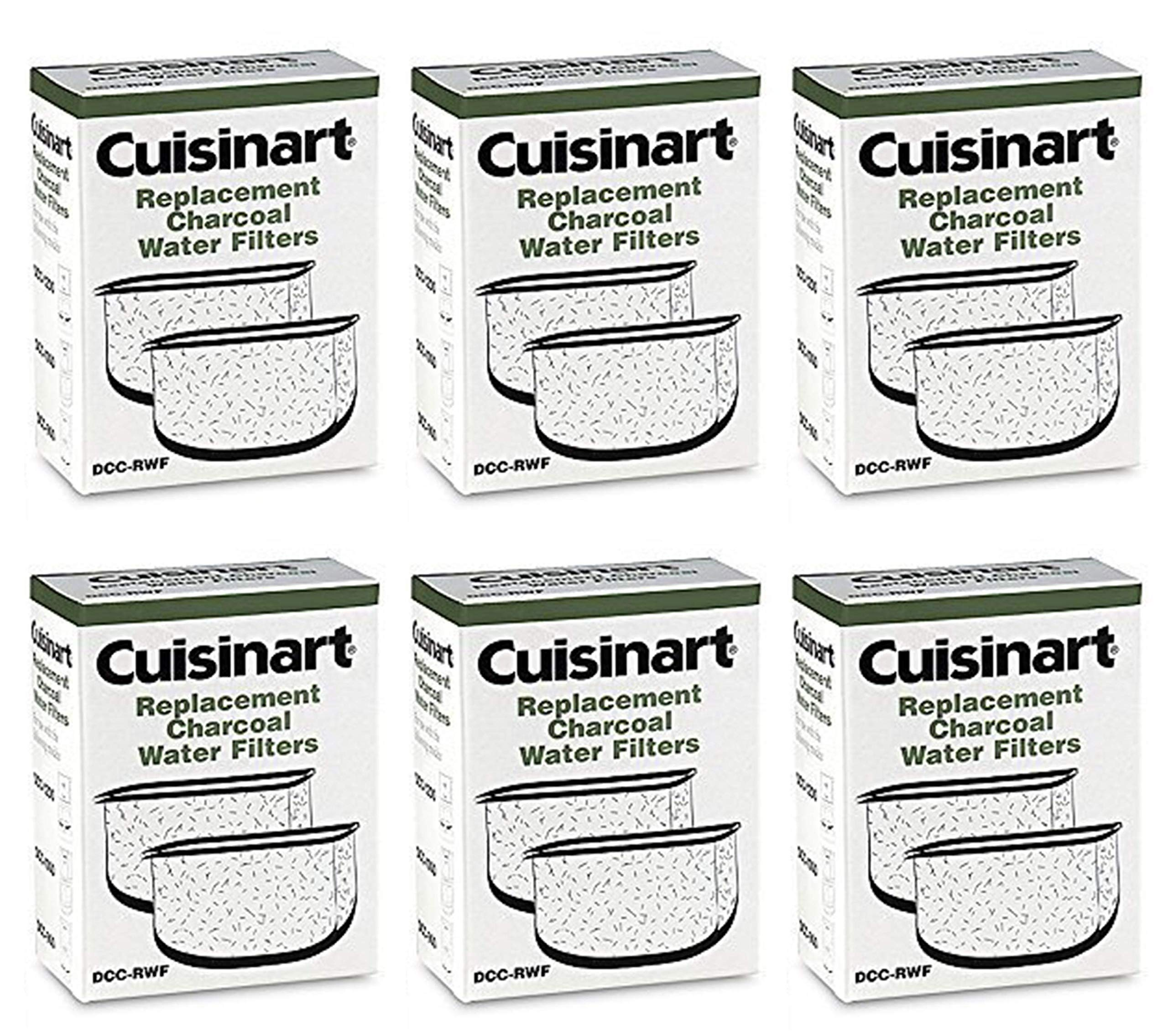Cuisinart DCC-RWF-6PK (12 Filters) Charcoal Water Filters in Cuisinart DCC-RWF Retail Box by Cuisinart