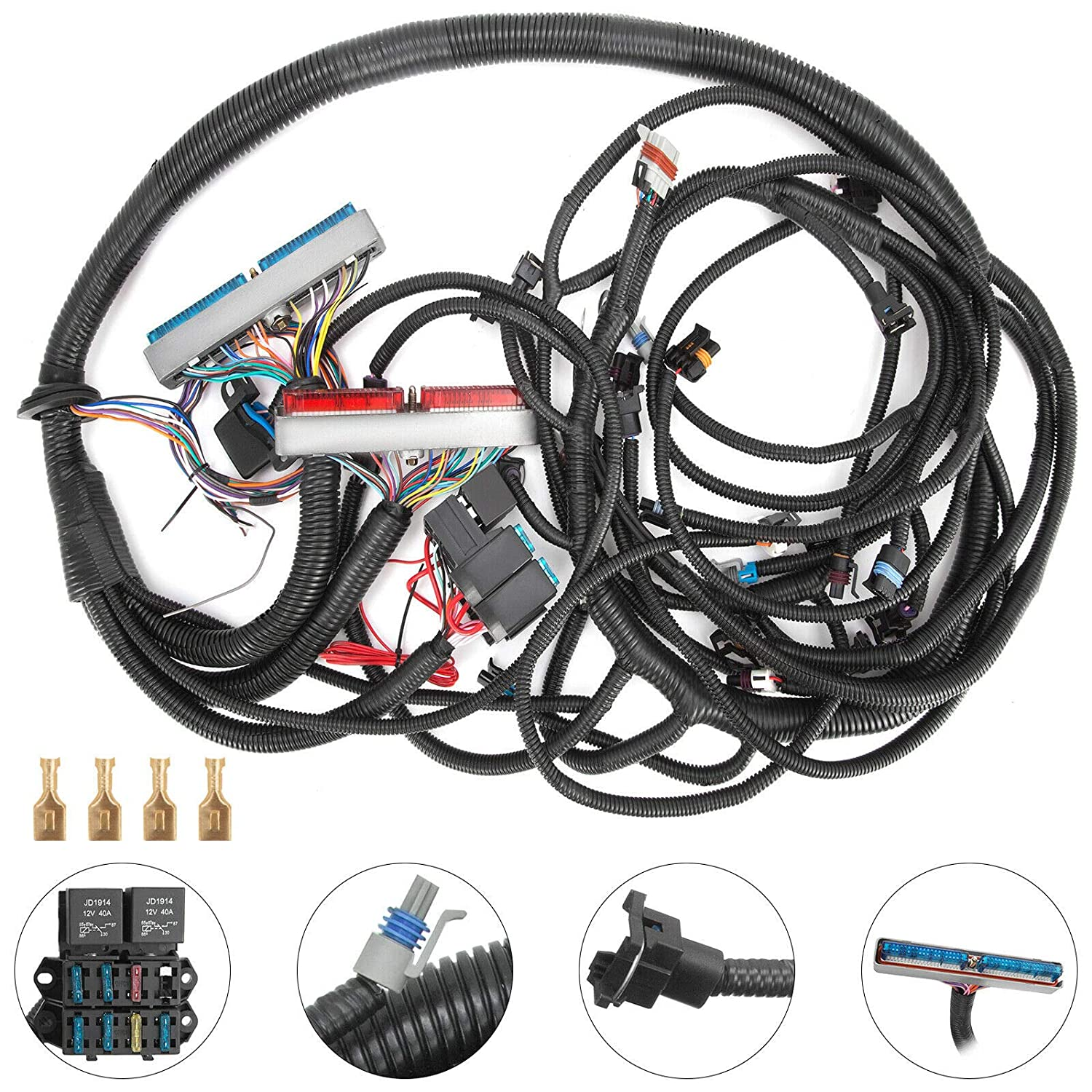 mophorn standalone wiring harness (for 99 03 4l60e psi standalone wiring harness (dbc) with ls1 intake) ls1 wiring harness standalone ls1 wiring harness standalone #15