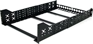 StarTech.com 3U Universal Server Rack Rails - TAA Compliant Fixed Mounting Rails - 19