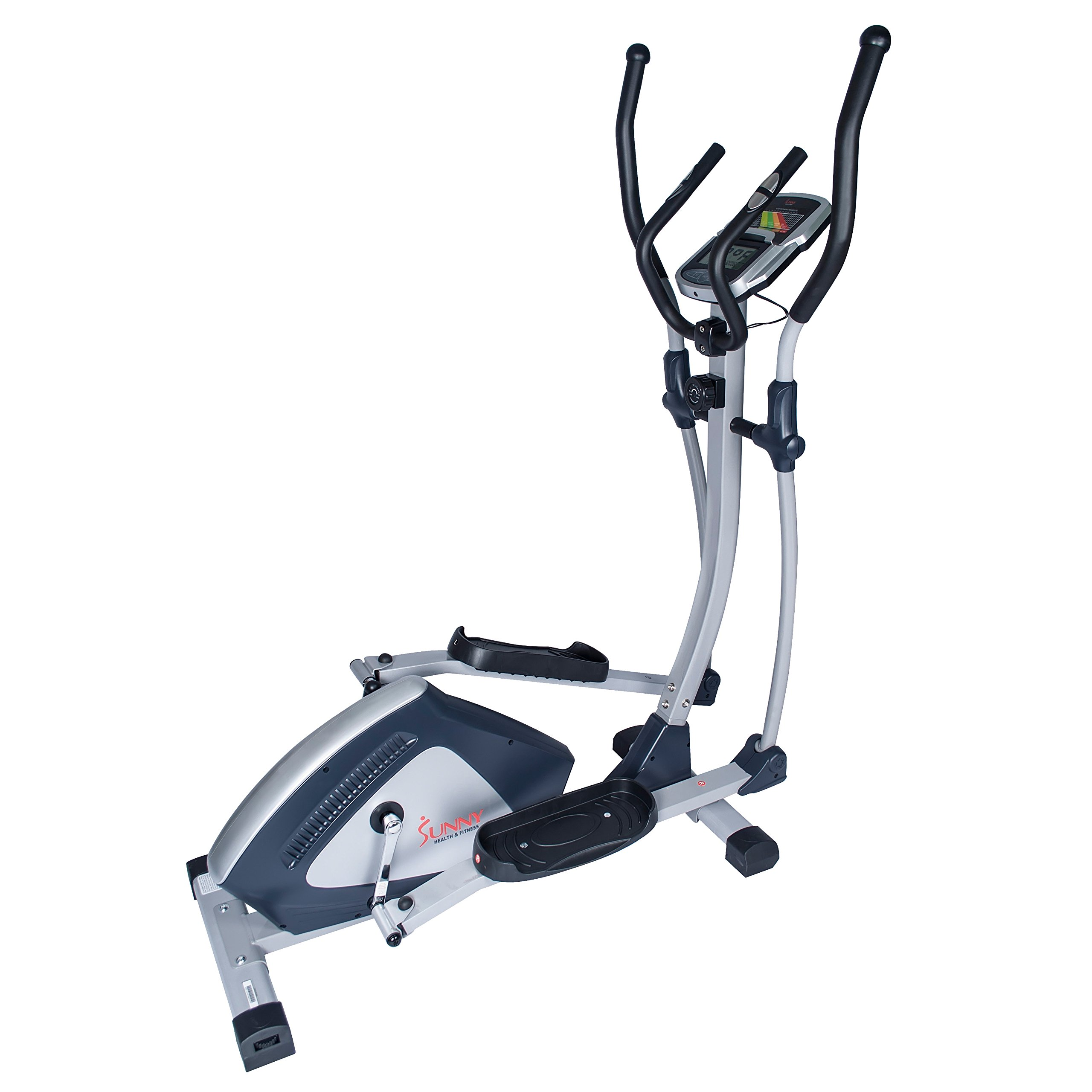 Sunny Health & Fitness Magnetic Elliptical Trainer Elliptical Machine w/  LCD Monitor and Heart Rate Monitoring - Endurance Zone - SF-E3804 by Sunny Health & Fitness (Image #2)