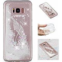 E-Mandala Coque Samsung Galaxy S8/S8 Plus Transparente avec Motif Housse Etui Paillette Brillante