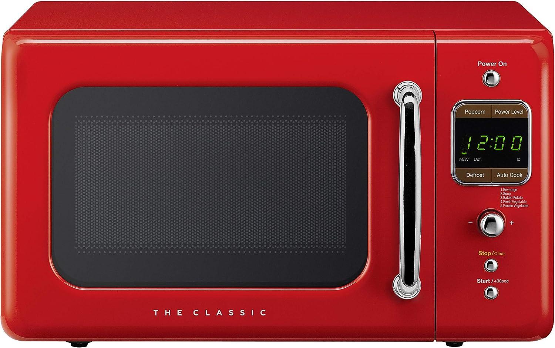 WINIADAEWOO ELECTRONICS WOR07R2ZER WOR07R3ZER Retro Microwave Oven, 0.7 Cu Ft, RED