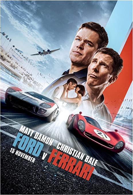 Amazon Com Ford V Ferrari Movie Poster 24 X 36 Inches Usa Shipped Print Ready For Display 2019 Damon Bale Poster Version A Posters Prints