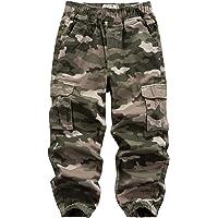 WIYOSHY Pantalones de carga elásticos para niños de 4 a 14 años