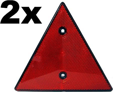 Rote Dreieck Rückstrahler X2 Reflektor 2 Stück Auto
