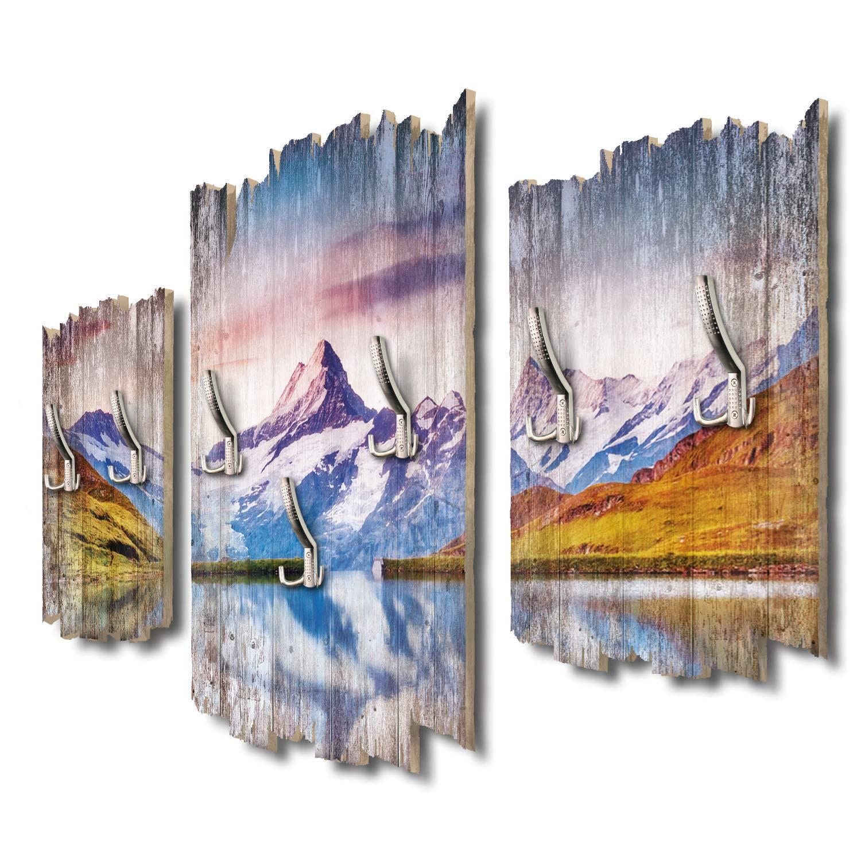 Kreative Feder Schreckhorn Schweiz Designer Wandgarderobe Flurgarderobe Wandpaneele 95 x 60 cm aus MDF DTGH033