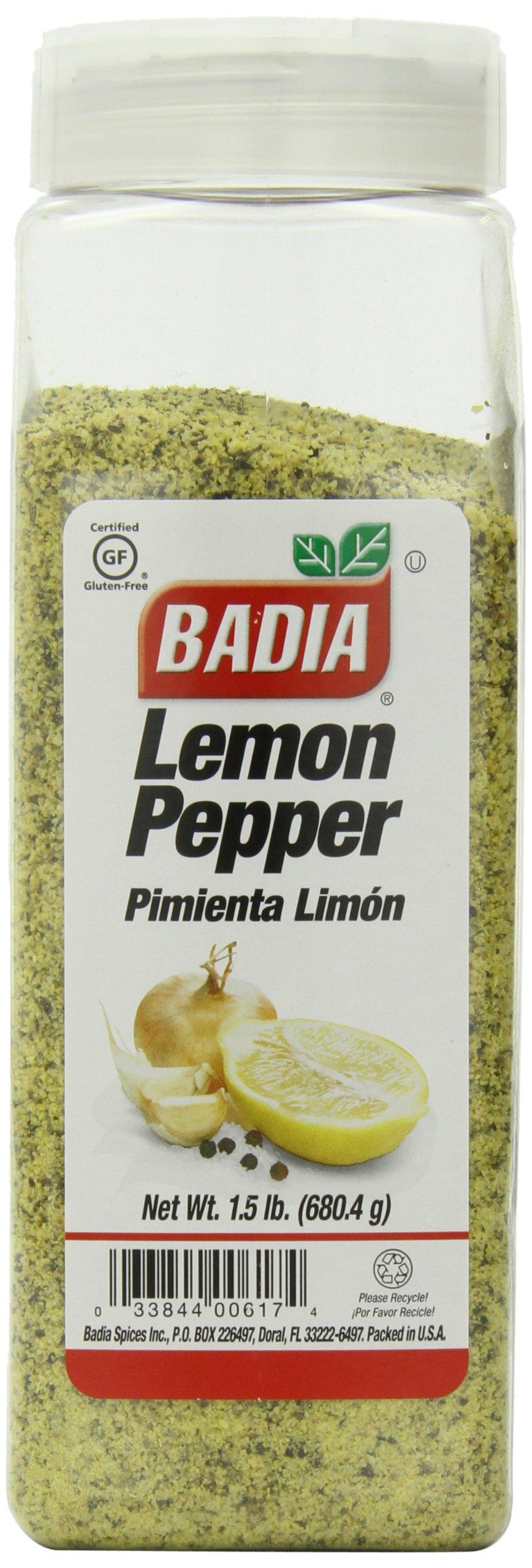 Badia Lemon Pepper, 1.5-pounds (Pack of 6)