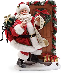 "Department 56 Possible Dreams Santas Knock, 11.5"" Figurine, Multicolor"