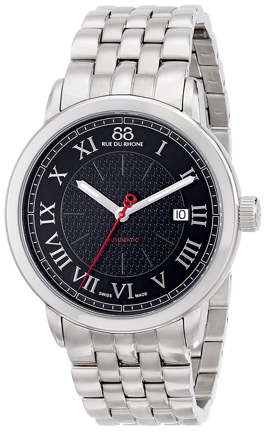 88 Rue du Rhone Men s 87WA120040 Analog Display Swiss Automatic Silver Watch