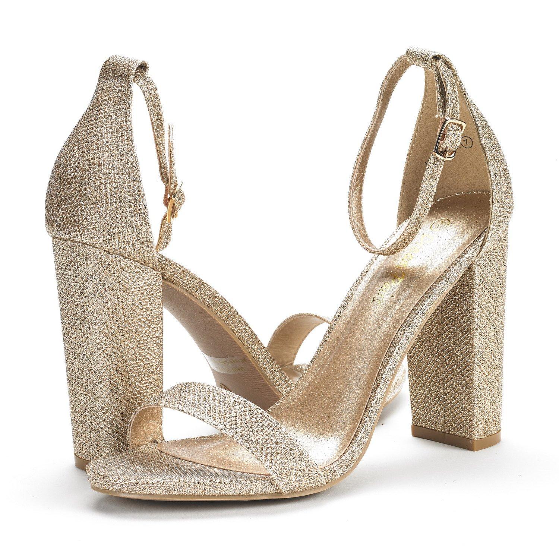 70s Shoes, Platforms, Boots, Heels DREAM PAIRS Womens Hi-Chunk High Heel Pump Sandals $38.99 AT vintagedancer.com