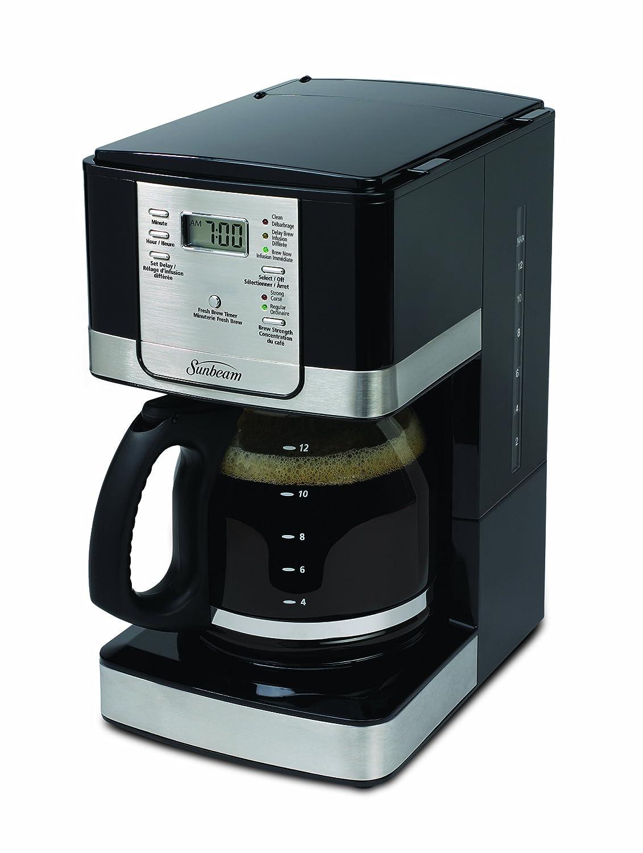 Sunbeam 12-Cup Programmable Steel Coffeemaker, Black/Stainless BVSBJWX27-033
