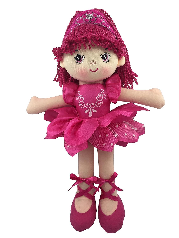 A B Gee 362C6638Vicki Ballerine poupée de Chiffon Jouet en Peluche, 30cm