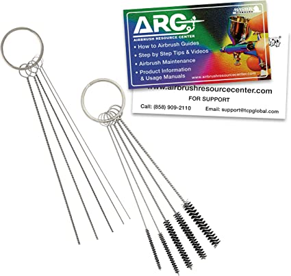 5 Pieces Airbrush Cleaning Needle Tool Stainless Steel Needle for Compressor Airbrush Cleaning