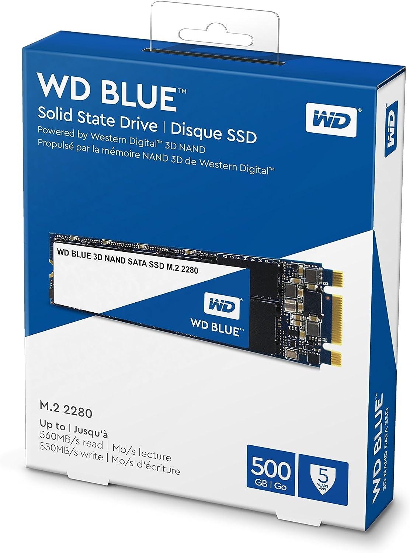 Western Digital WDS500G2B0B WD Blue 500GB 3D NAND Internal SSD M.2 ...