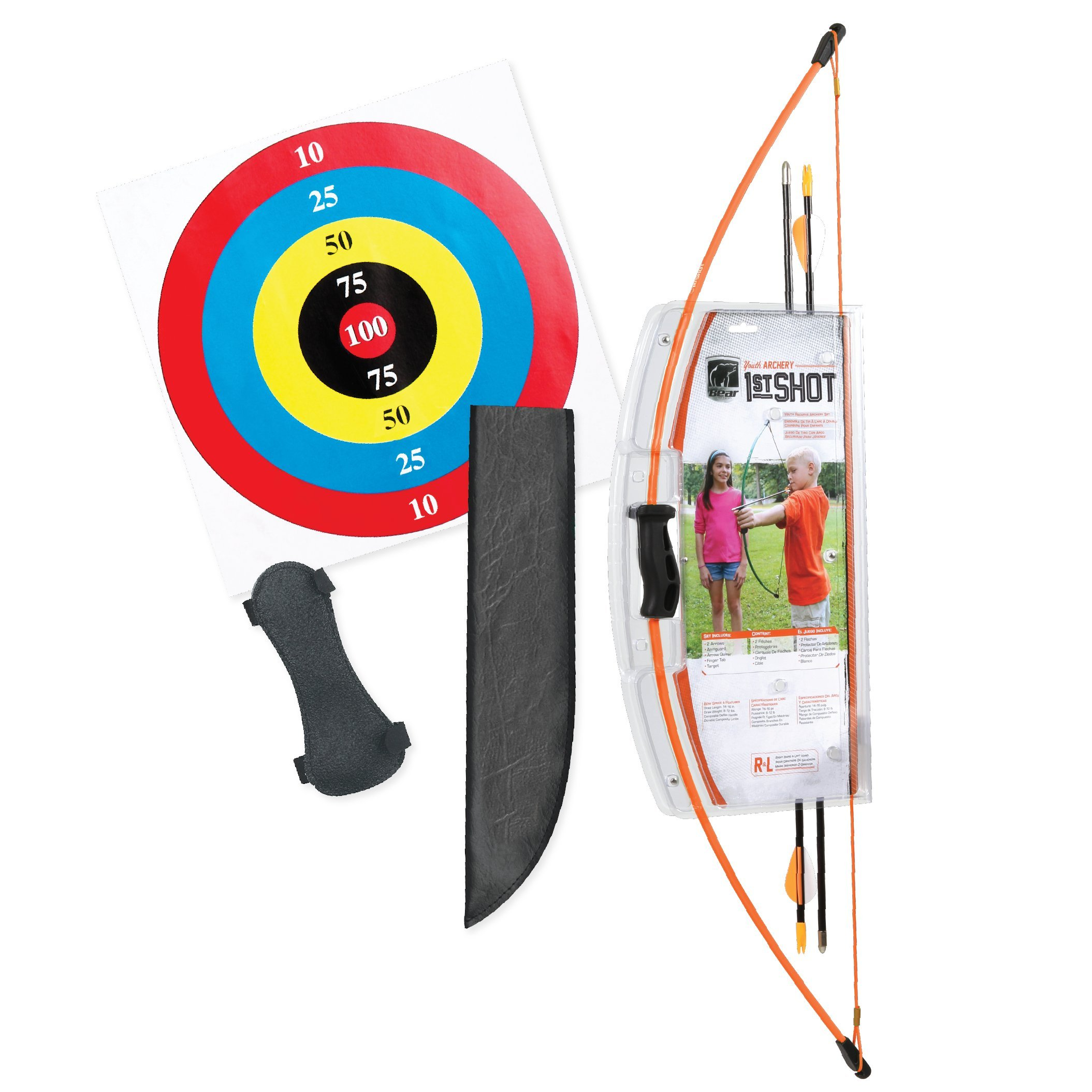 Bear Archery 1st Shot Youth Bow Set - Flo Orange by Bear Archery
