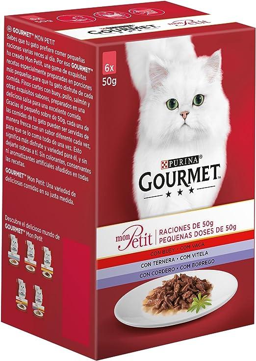 Oferta amazon: Purina Gourmet Mon Petit comida para gatos Carnes 8 x [6 x 50 g]