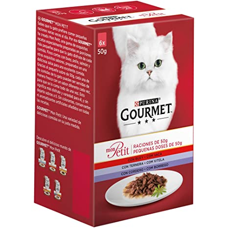 Purina Gourmet Mon Petit comida para gatos Carnes 8 x [6 x 50 g]