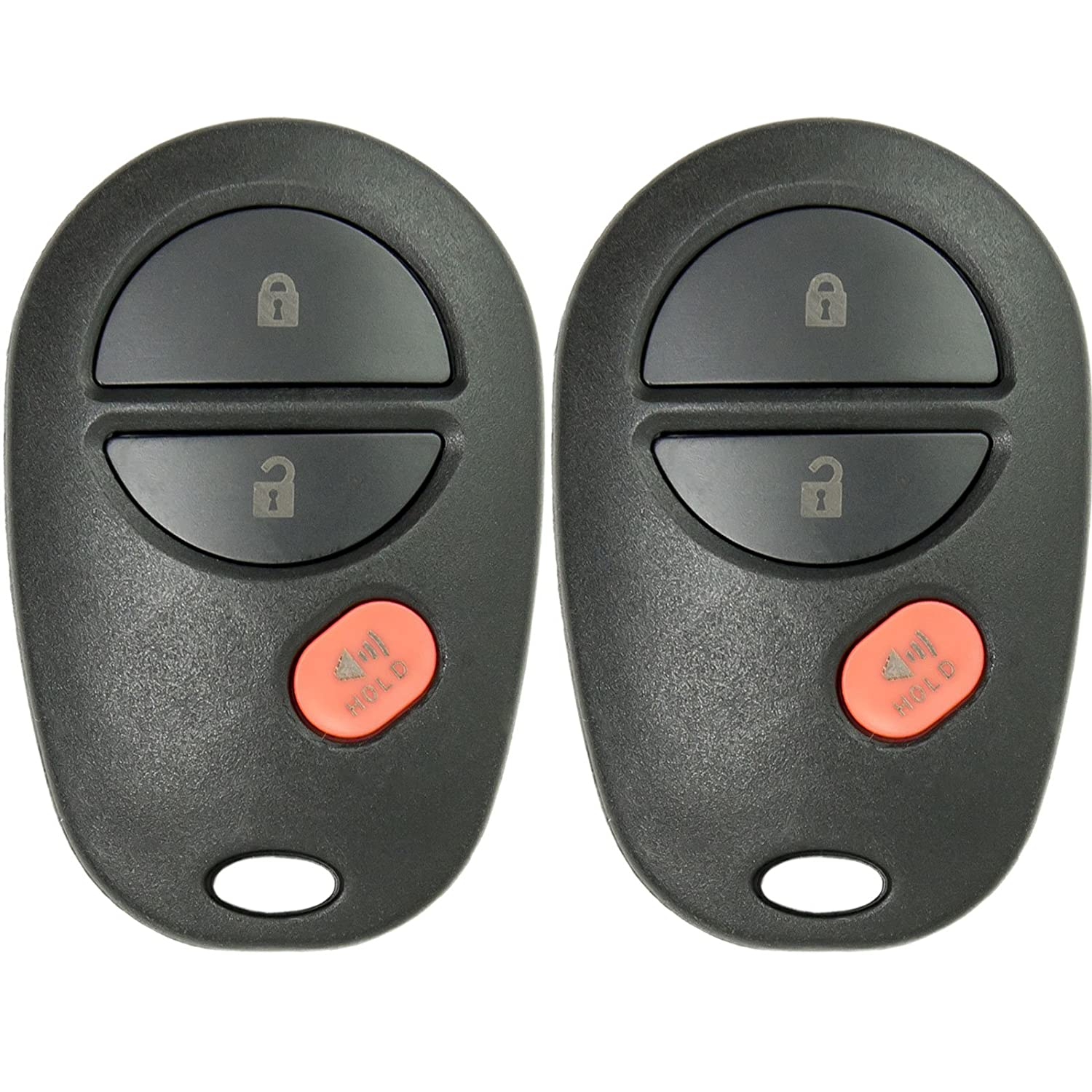 Keyless2Go New Keyless Entry Remote Car Key Fob 3 Button Replacement for FCC GQ43VT20T 2 Pack
